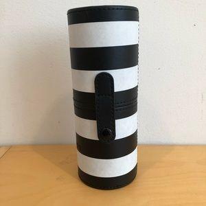 NEW Morphe Black & White Cylinder Long Brush Case